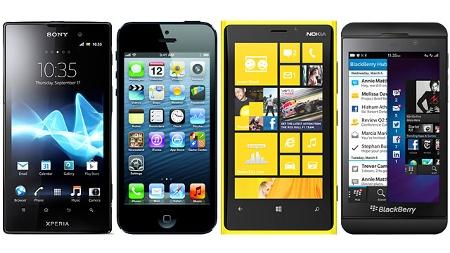 smartphones-mit-unterschiedlichen-systemen