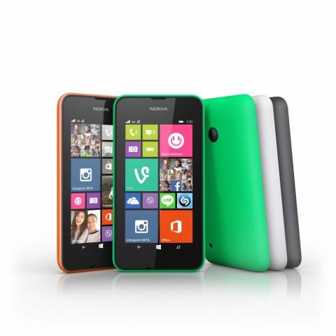 Das neue Lumia 530 kostet unter 100 Euro. (Bild: Microsoft)