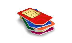 bunte-SIM-Karten